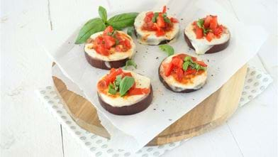 Aubergine pizza's